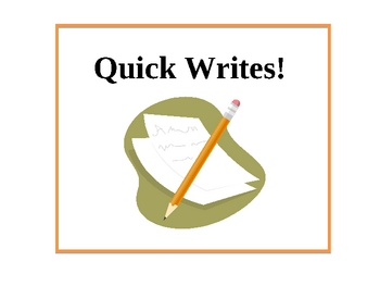 Quick Write -- Step by Step (PowerPoint)