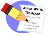 Quick Write Template