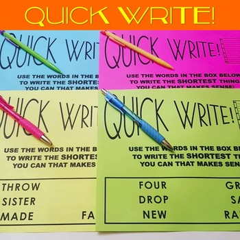 Quick Writes (36 PPT Slides and Printables)