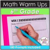 Bellwork Quick Writes Math Journal {Grade 6}