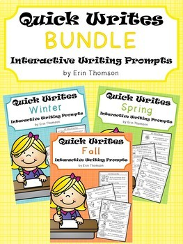 Quick Writes ~ Interactive Writing Prompts {Bundle}