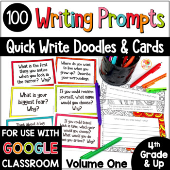 Quick Writes Journal Prompts | Journal Prompts for Middle School VOLUME ONE