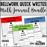 Bellwork Quick Writes Math Journal BUNDLE {Grades 6 to 8}