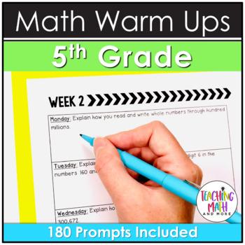 Bellwork Quick Writes Math Journal {Grade 5}