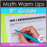 Bellwork Quick Writes Math Journal {Grade 8}