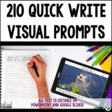 Writing Prompts - Visual Quick Writes Bundle - Distance Learning