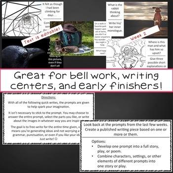 Quick Writes Visual Writing Prompts Set 4