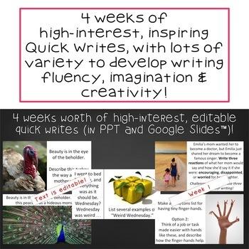 Quick Writes Visual Writing Prompts Set 6