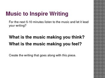 Quick Writes: With Music!