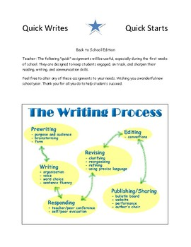 Quick Writes and Quick Starts: Back to School Edition (FREE)