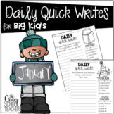 January Quick Writing Prompts for BIG KIDS