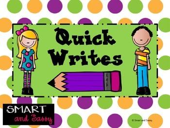 Quick Writes for Inspiring Creative Writing