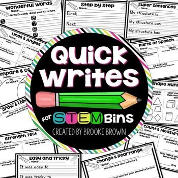 Quick Writes for STEM Bins™