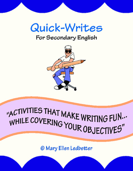 Quick-Writes for Secondary English (Middle & High School English)