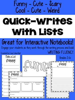 Quick-Writes with Lists
