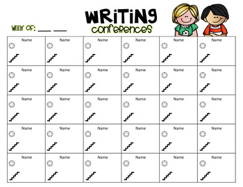 Quick Writing Conference Log {FREEBIE}