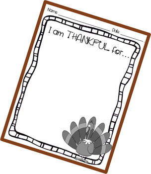 Quick Writing Prompts Thanksgiving Freebie