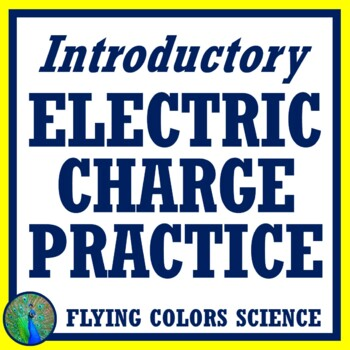 Quick and Basic Electric Charges Review, Middle School NGSS MS-PS2-3 + MS-PS2-5