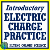 Quick + Basic Electric Charges Review Worksheet NGSS MS-PS2-3 MS-PS2-5