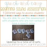 Quick and Easy Beginning Sound Assessment
