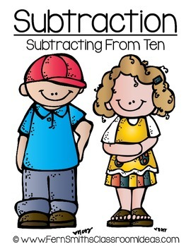Subtracting From Ten A Quick and Easy to Prep Center and Printables