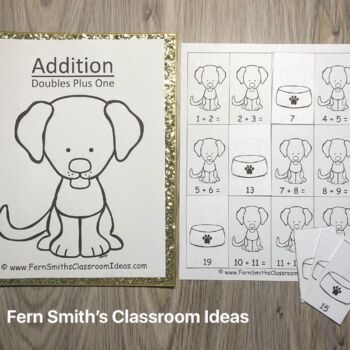 Addition Doubles Plus One Centers A Quick and Easy to Prep Center and Printables
