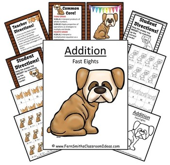 Addition Fast Eights Centers A Quick and Easy to Prep Center and Printables