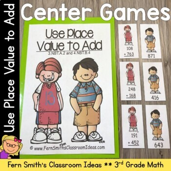 3rd Grade Go Math 1.7 Addition Multi-Digit Numbers Within 1000 Center Game