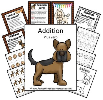 Addition Plus Zero Centers A Quick and Easy to Prep Center and Printables