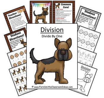 Division Center Game Divide By One A Quick and Easy to Prep Center