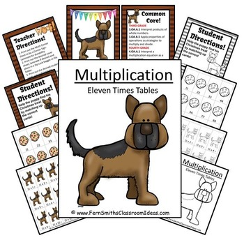 Multiplication Center Game Multiply By Eleven A Quick and Easy to Prep Center