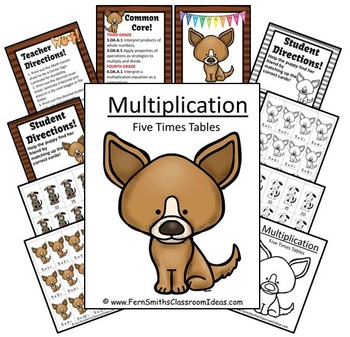 Quick and Easy Center and Printables - Multiply By Five