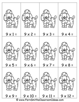 Multiplication Center Game Multiply By Nine A Quick and Easy to Prep Center