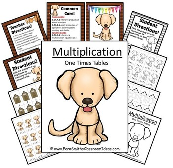 Multiplication A Quick and Easy to Prep Center Game for Multiply By One