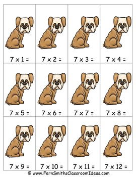 Multiplication Center Game Multiply By Seven A Quick and Easy to Prep Center