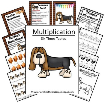 Multiplication Center Game Multiply By Six A Quick and Easy to Prep Center
