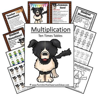 Multiplication A Quick and Easy to Prep Center Game for Multiply By Ten