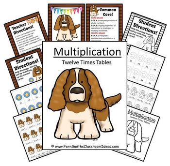 Multiplication A Quick and Easy to Prep Center Game for Multiply By Twelve