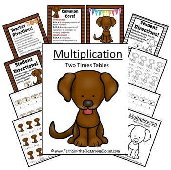 Multiplication Center Game Multiply By Two A Quick and Easy to Prep Center