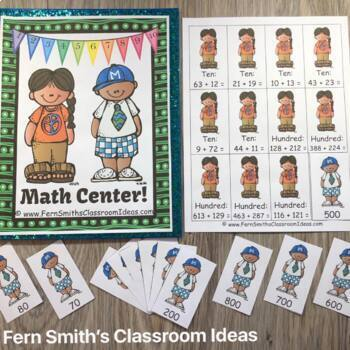 3rd Grade Go Math Chapter 3 Lesson 1.3 Rounding to Estimate Sums Center Games
