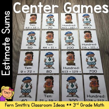 3rd Grade Go Math 1.3 Estimate Sums Center Game