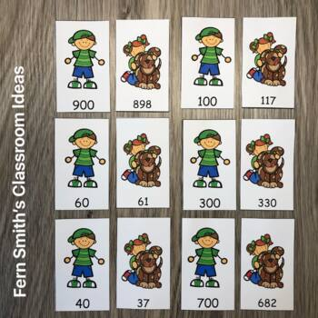 3rd Grade Go Math 1.2 Round to the Nearest Ten or Hundred Center Game