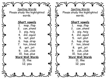 Quick and Easy  Differentiated Spelling Lists, and Practice Activities