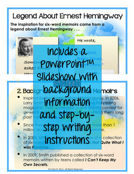 Six-word Memoirs for Your Back-to-School Night Bulletin Board