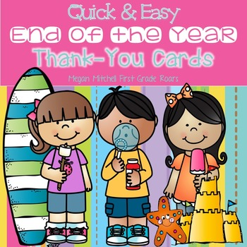 """End of the Year """"Thank You"""" Cards-Editable"""