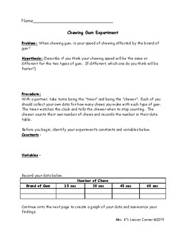 Quick and Easy Experiments for Reinforcing the Scientific Method