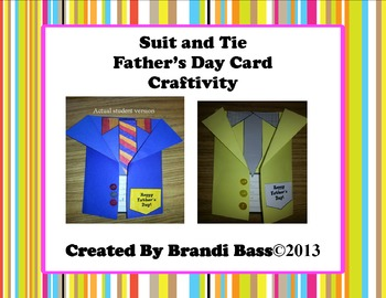 Quick and Easy Father's Day Card Craftivity and Father's Day Book!