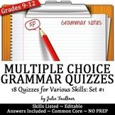 Grammar Quizzes, Multiple Choice, Proofreading, ACT Prep, VOL #1