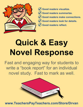 Quick and Easy Individual Novel Response - Written Summati