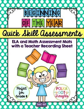 Quick and Easy Skill Assessment Mats for Grade One {Beginning of the Year}